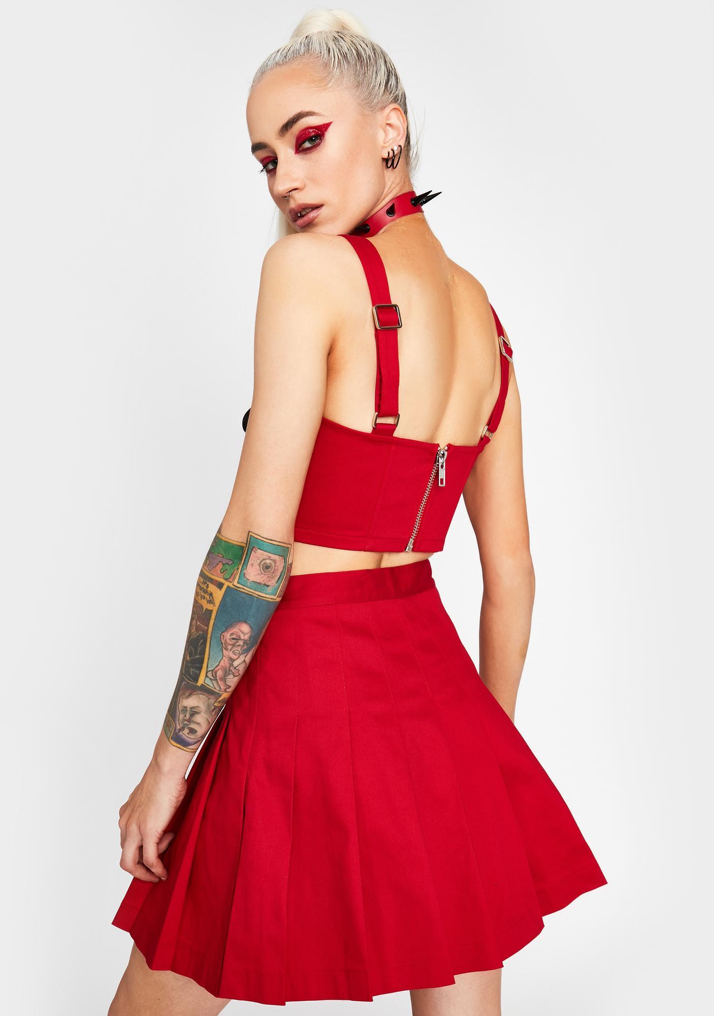HOROSCOPEZ Fierce N' Flirtatious Pleated Skirt