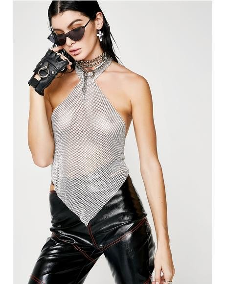 Mind Bending Sparkle Halter Top