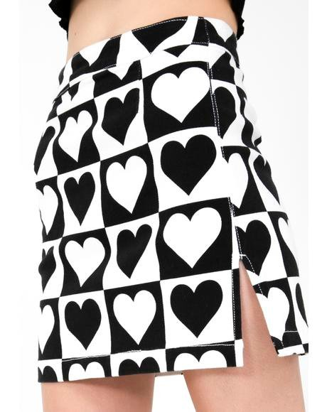 Heart Deco Mini Skirt