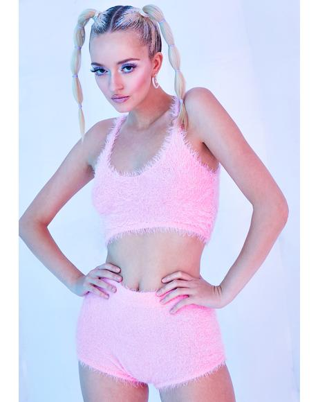 Sugar Coated Dreams Fuzzy Tank Top