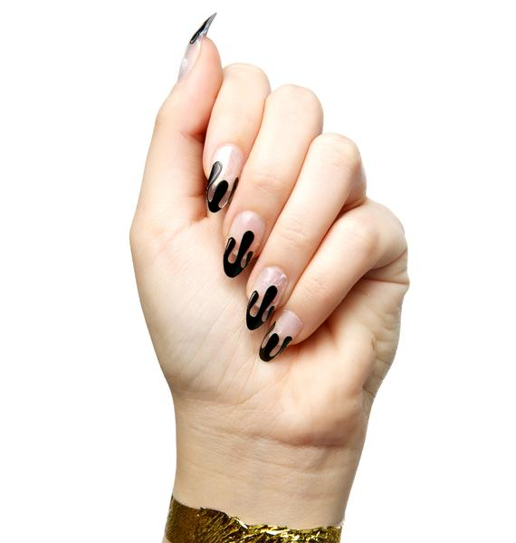 Black Blood Nail Wraps