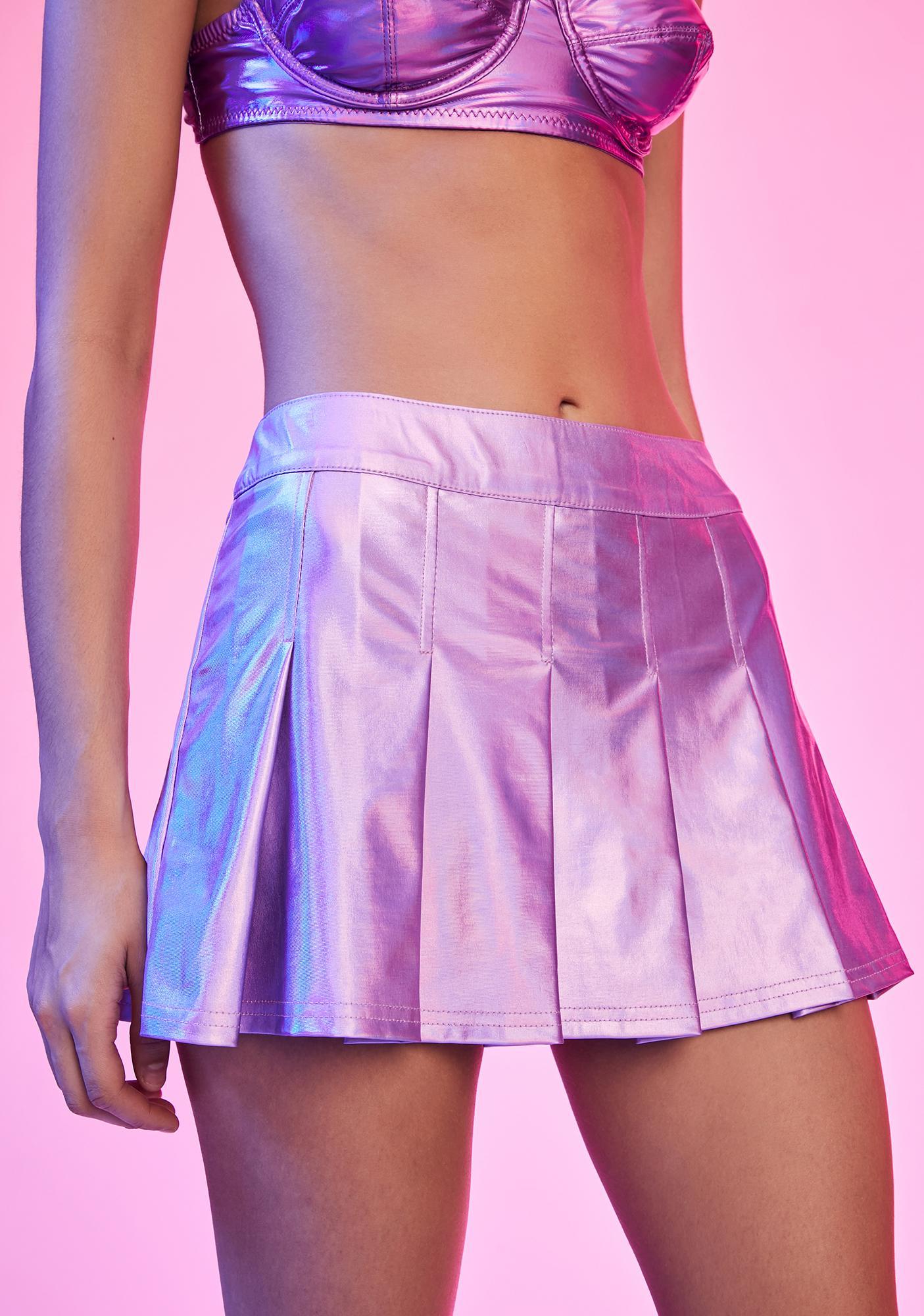Current Mood Liquid Magic Pleated Skirt