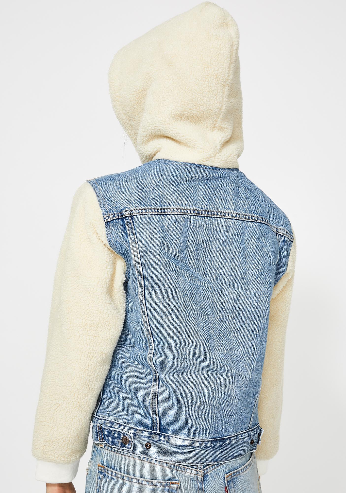 Levis Ex-Boyfriend Sherpa Hooded Trucker Jacket