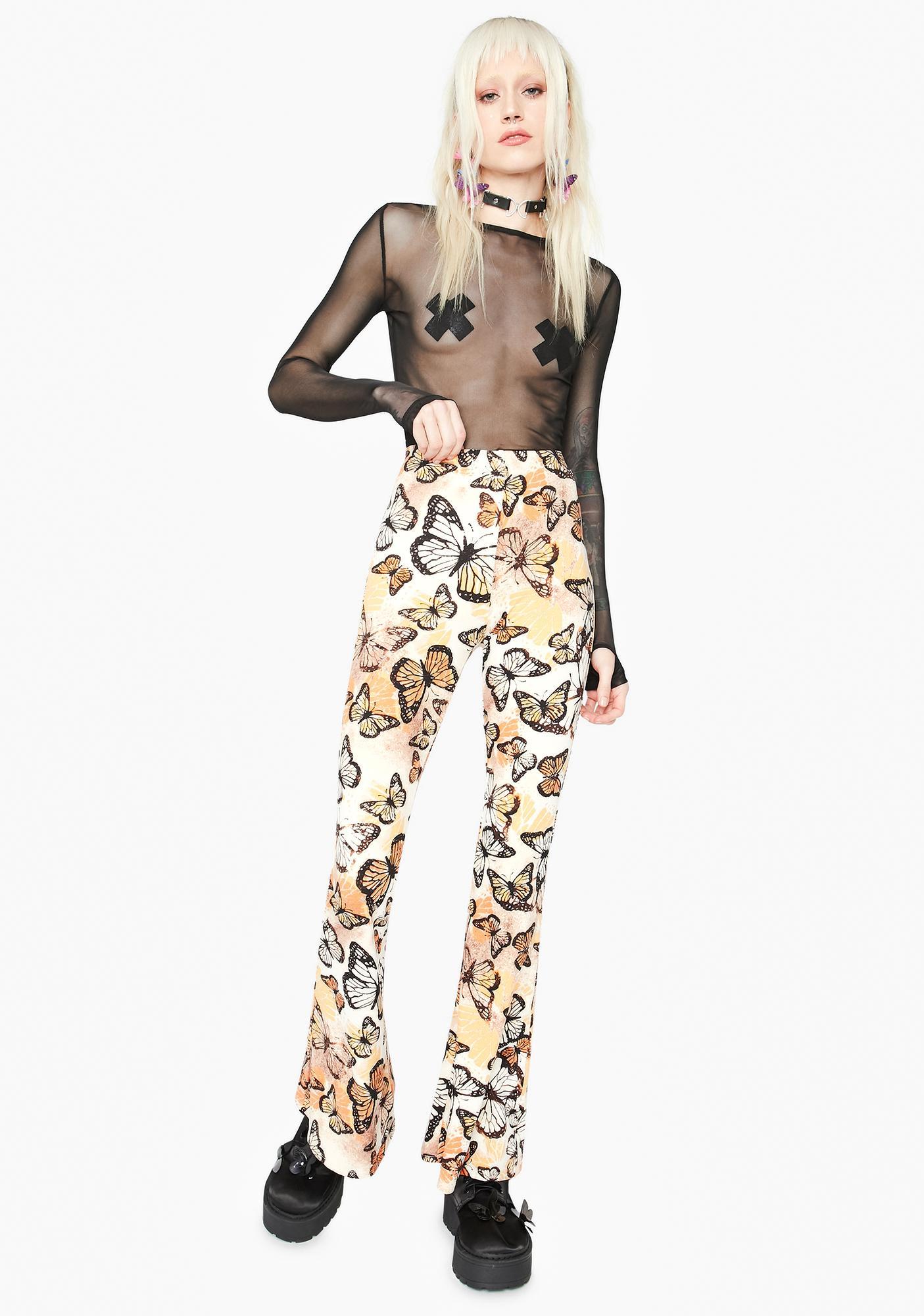 Fun Affairs Tie Dye Butterfly Flare Pants