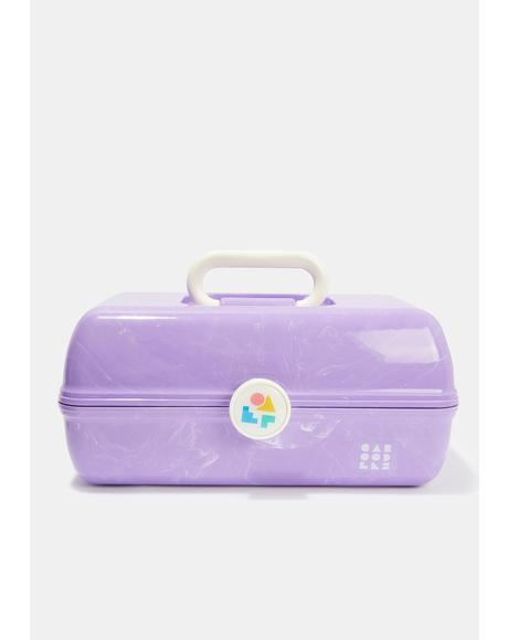 On The Go Girl Purple Marble Caboodle