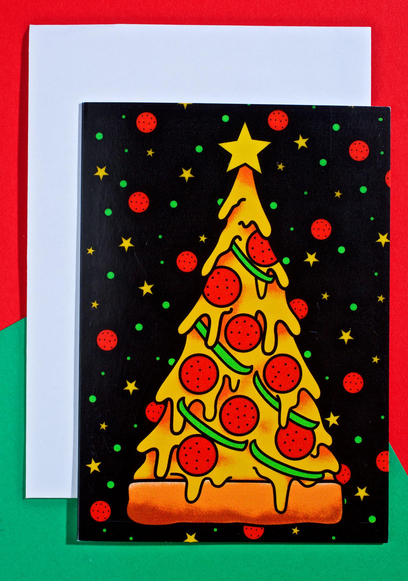 Sourpuss Clothing Pizza Tree Card