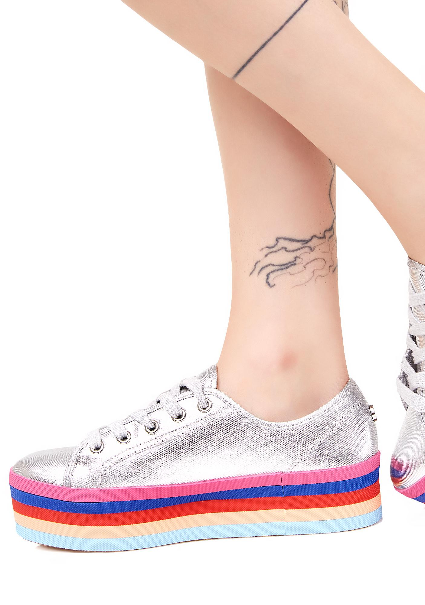 ... Steve Madden Rainbow Sole Lace-Up Shoes ...