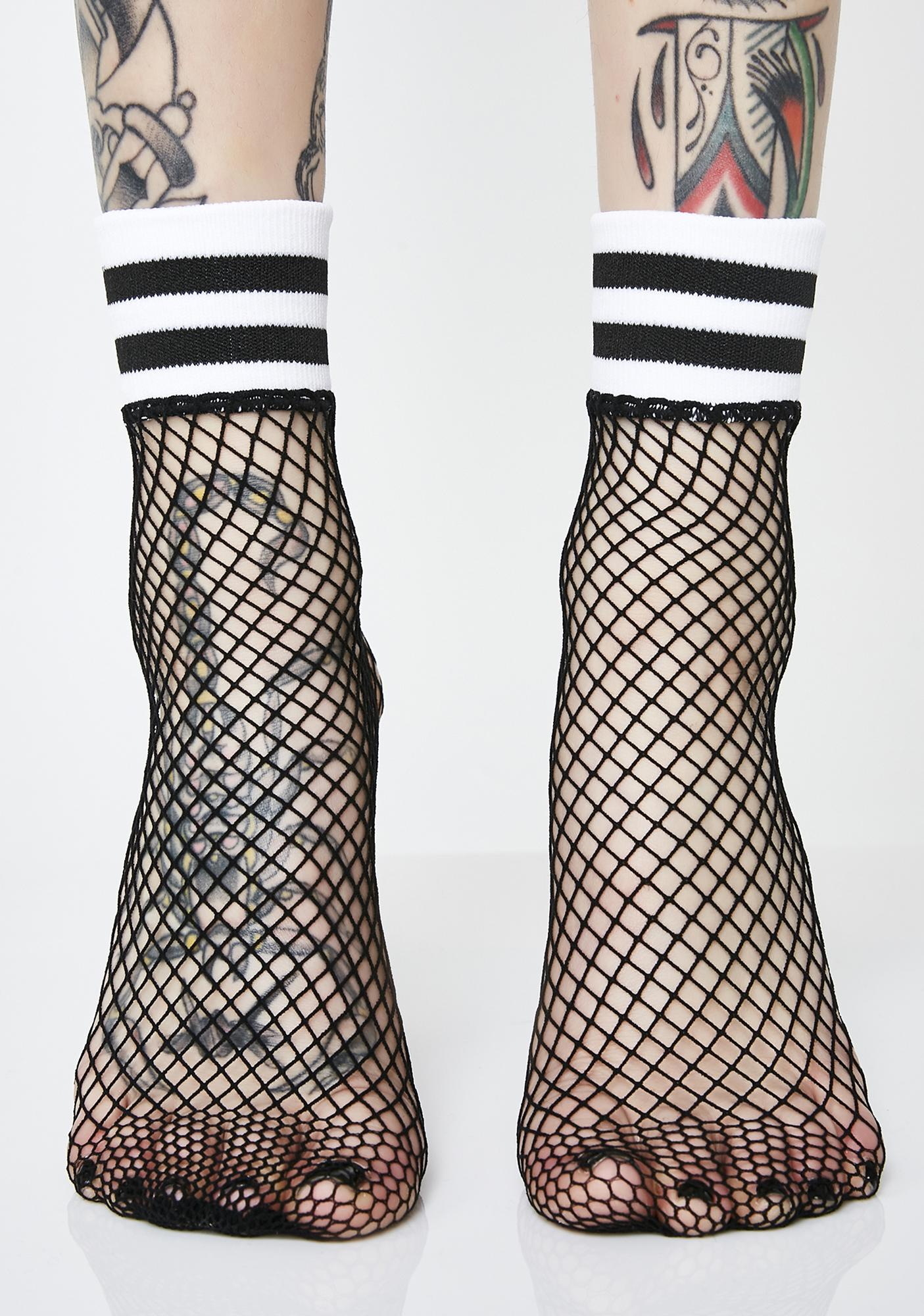 Feelin' Sporty Fishnet Socks