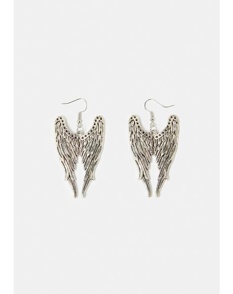 Hardcore Angel Drop Earrings