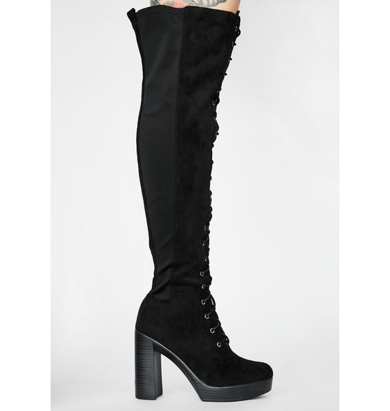 Baddie Chasing Danger Lace Up Boots