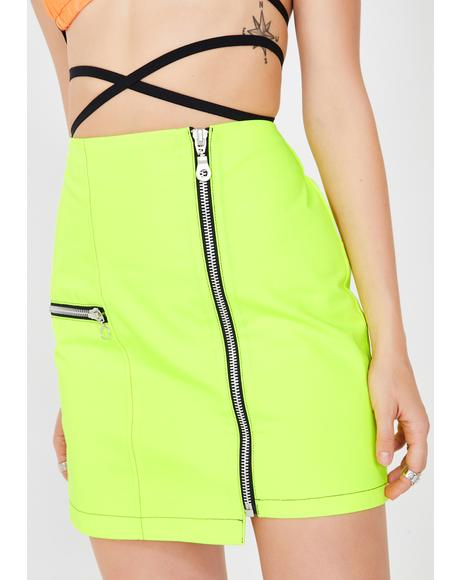 Drill Mini Skirt