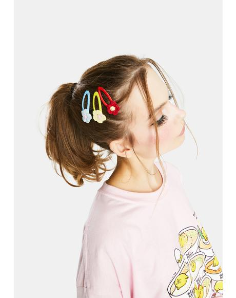 Blooms And Baubles Flower Barrette Set