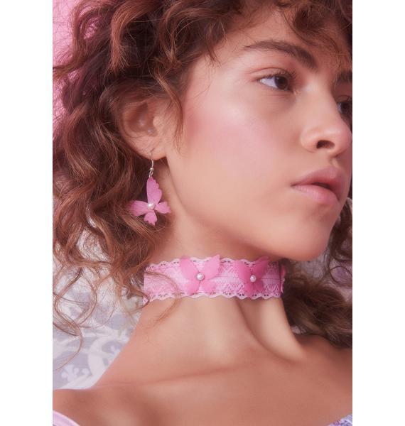 Pretty Wing Messages Butterfly Earrings
