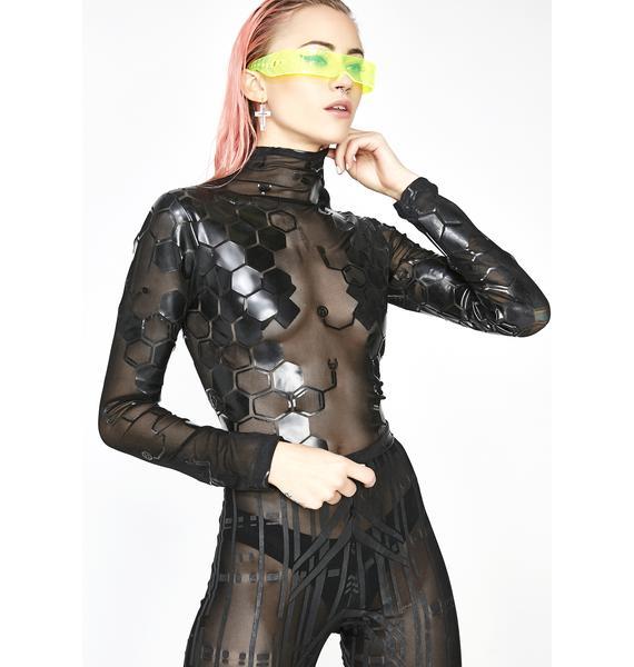 Cyberdog Antimatter Long Sleeve Crop Top