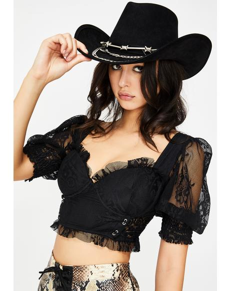 Bareback Beauty Lace Crop Top