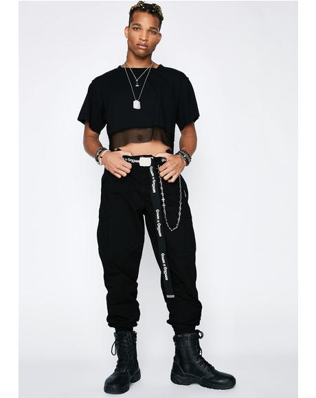 Mind Ya Bizness Suspender Cargo Pants