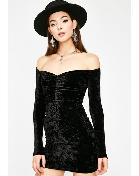 Sinful Wild For The Night Velvet Dress