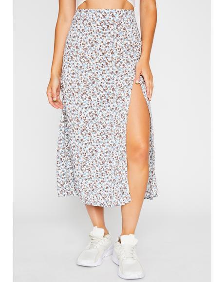 Forever Flirtatious Floral Skirt