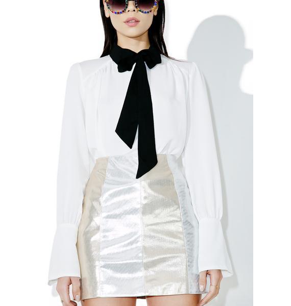 Dazzlin' Gleam Metallic Mini Skirt