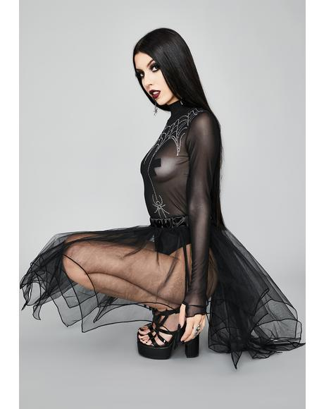 Royal Poison Sheer Skirt