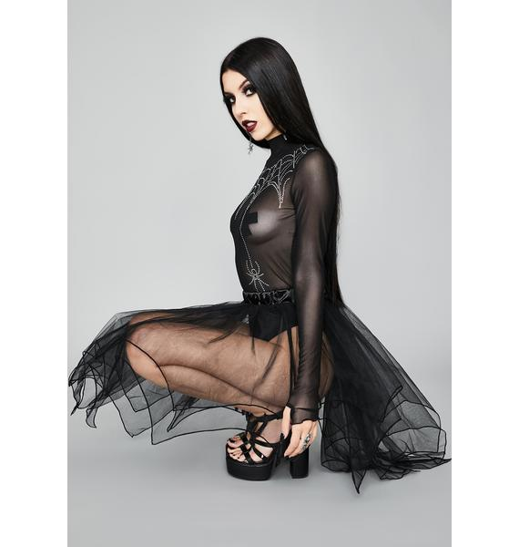 Widow Royal Poison Sheer Skirt