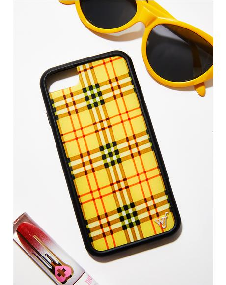 Yellow Tartan iPhone Case