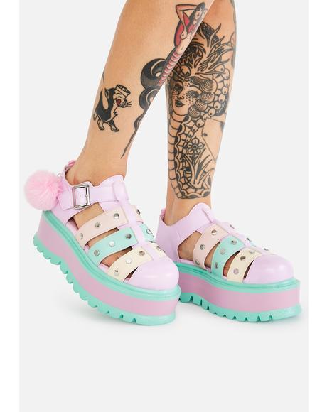 Rainbow Nyoka Pastel Sandals