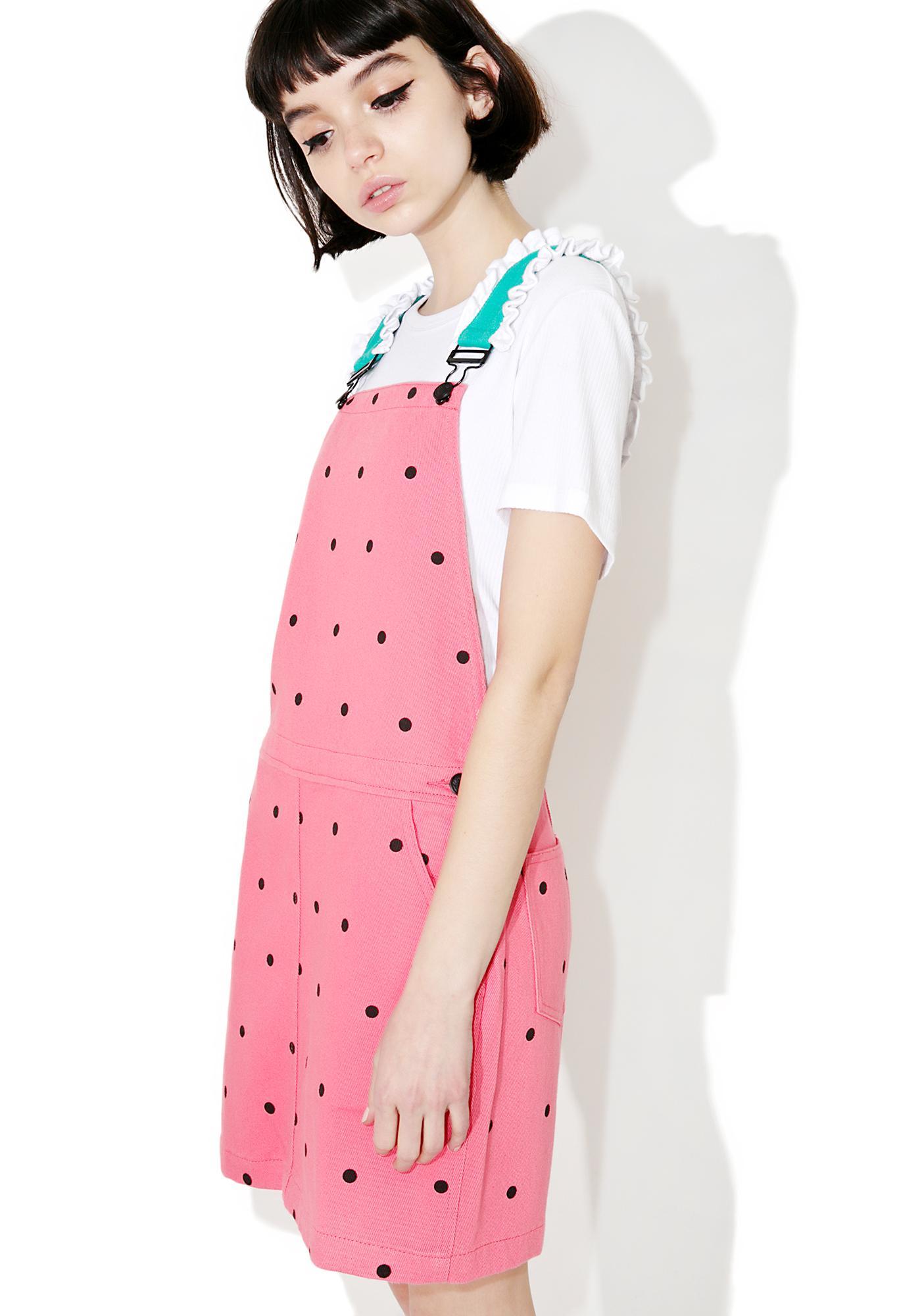 Lazy Oaf Watermelon Dungaree Dress