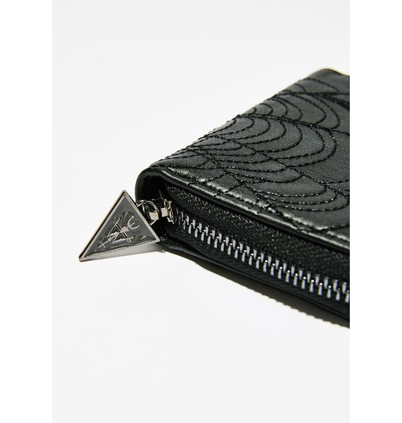 Widow Lethal Bite Embroidered Wallet