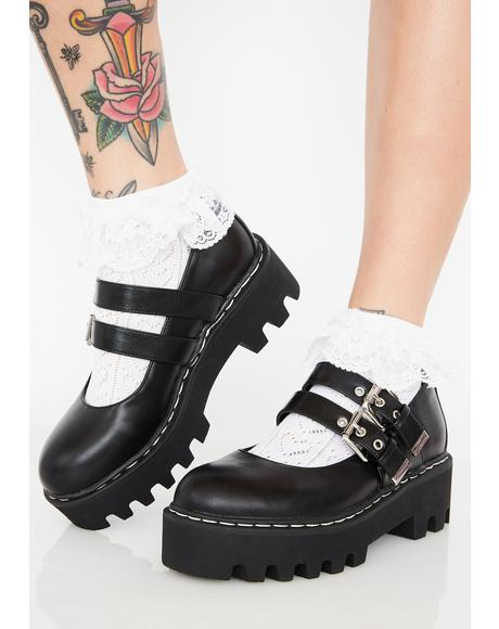 Raven Sweetie Pie Platform Mary-Janes