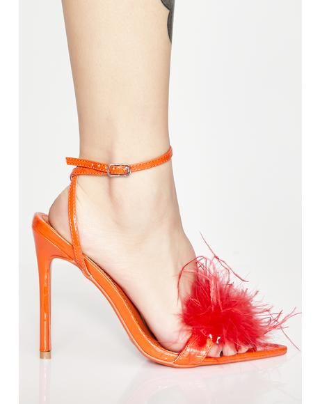 Disco Inferno Fluffy Heels