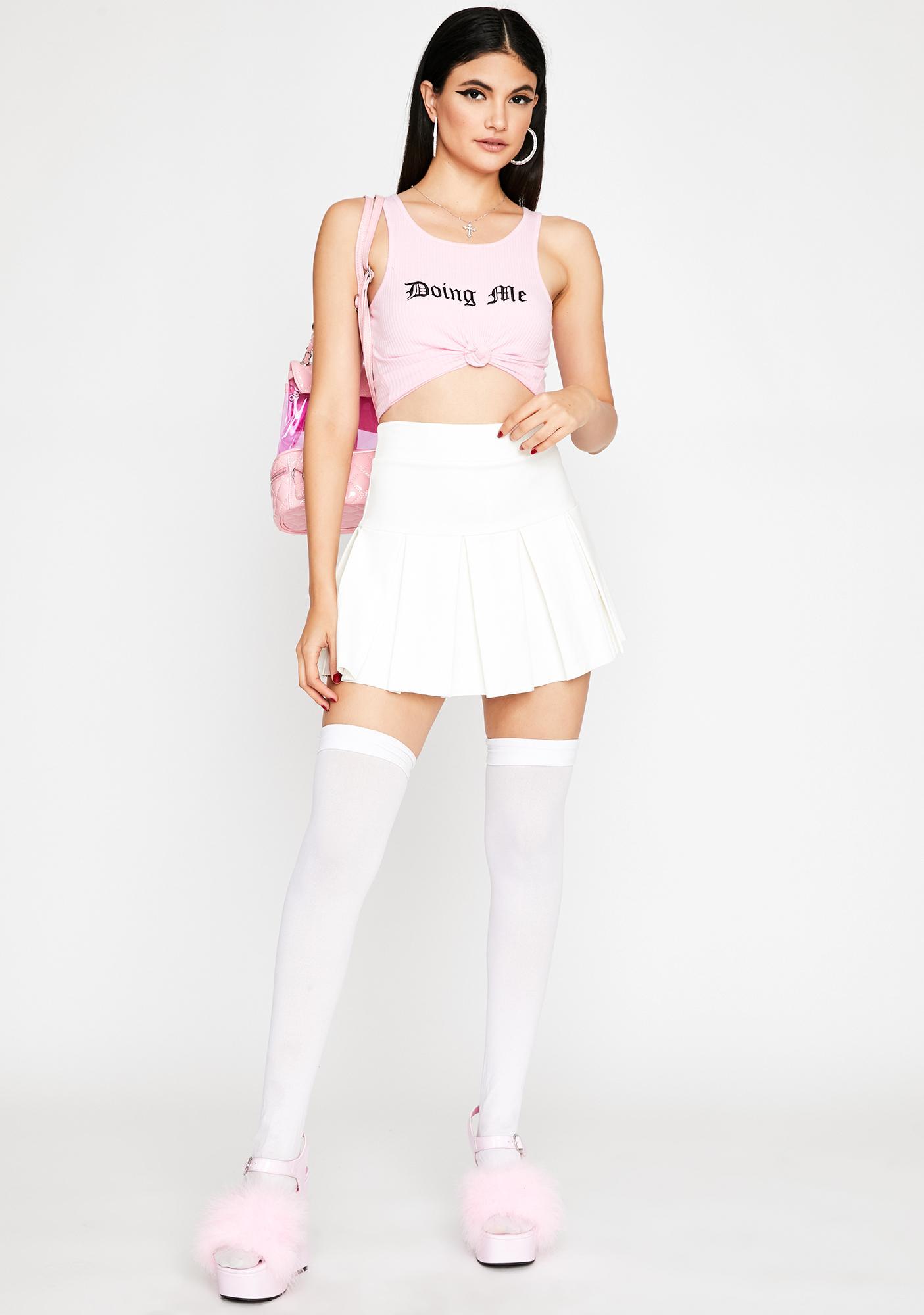 Pure Wicked Scholar Pleated Mini Skirt