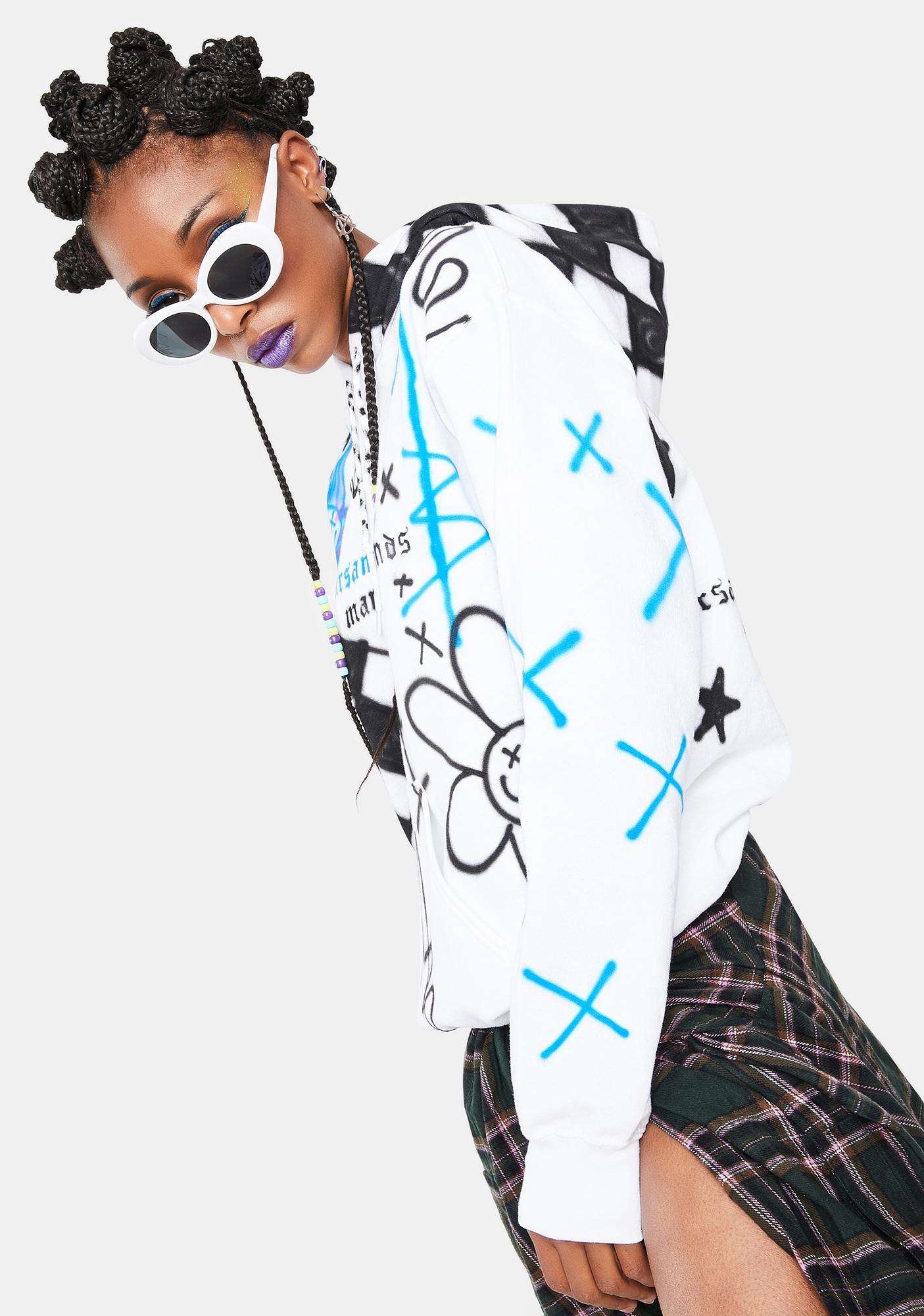 Marsanne Brands Domino Graphic Hoodie