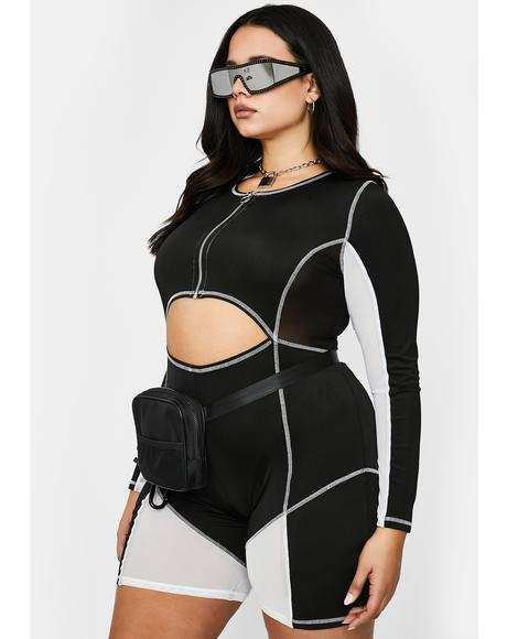 Legit Bawdy Goals Biker Playsuit