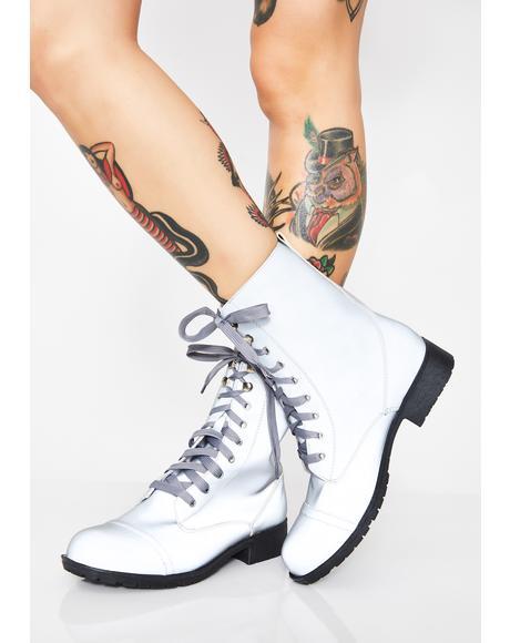 Sine Wave Reflective Combat Boots