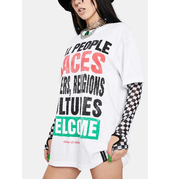Learn To Forget  All Welcome Premium Short Sleeve Graphic Tee