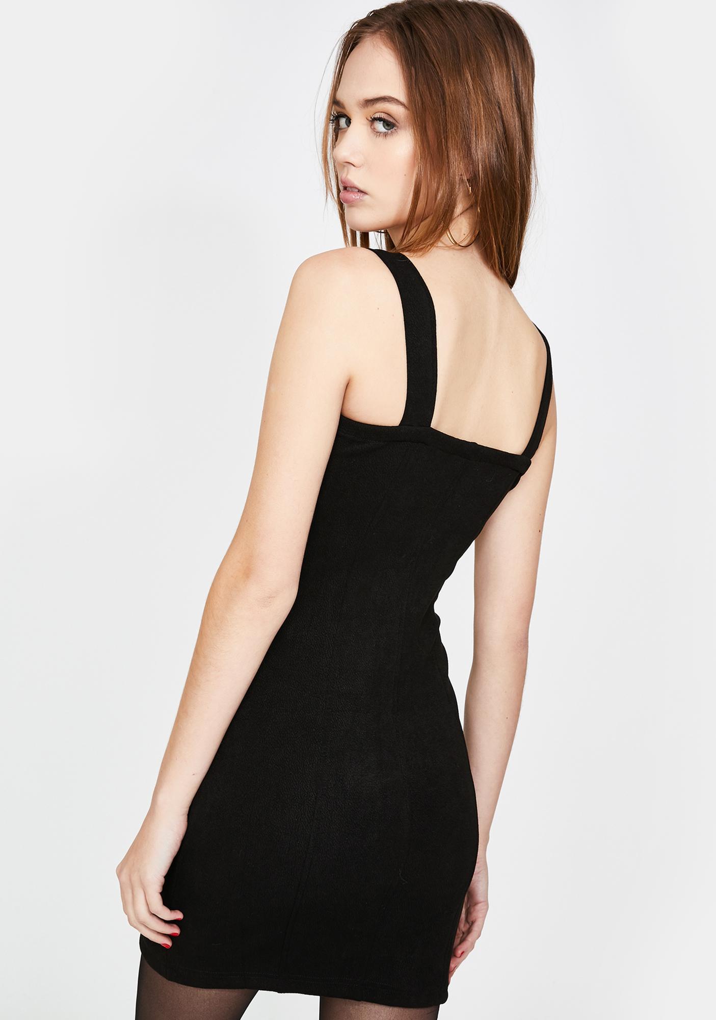 Honey Punch Bustier Zip Front Mini Dress