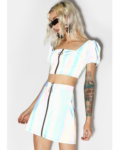 Night Savage Signalz Reflective Skirt