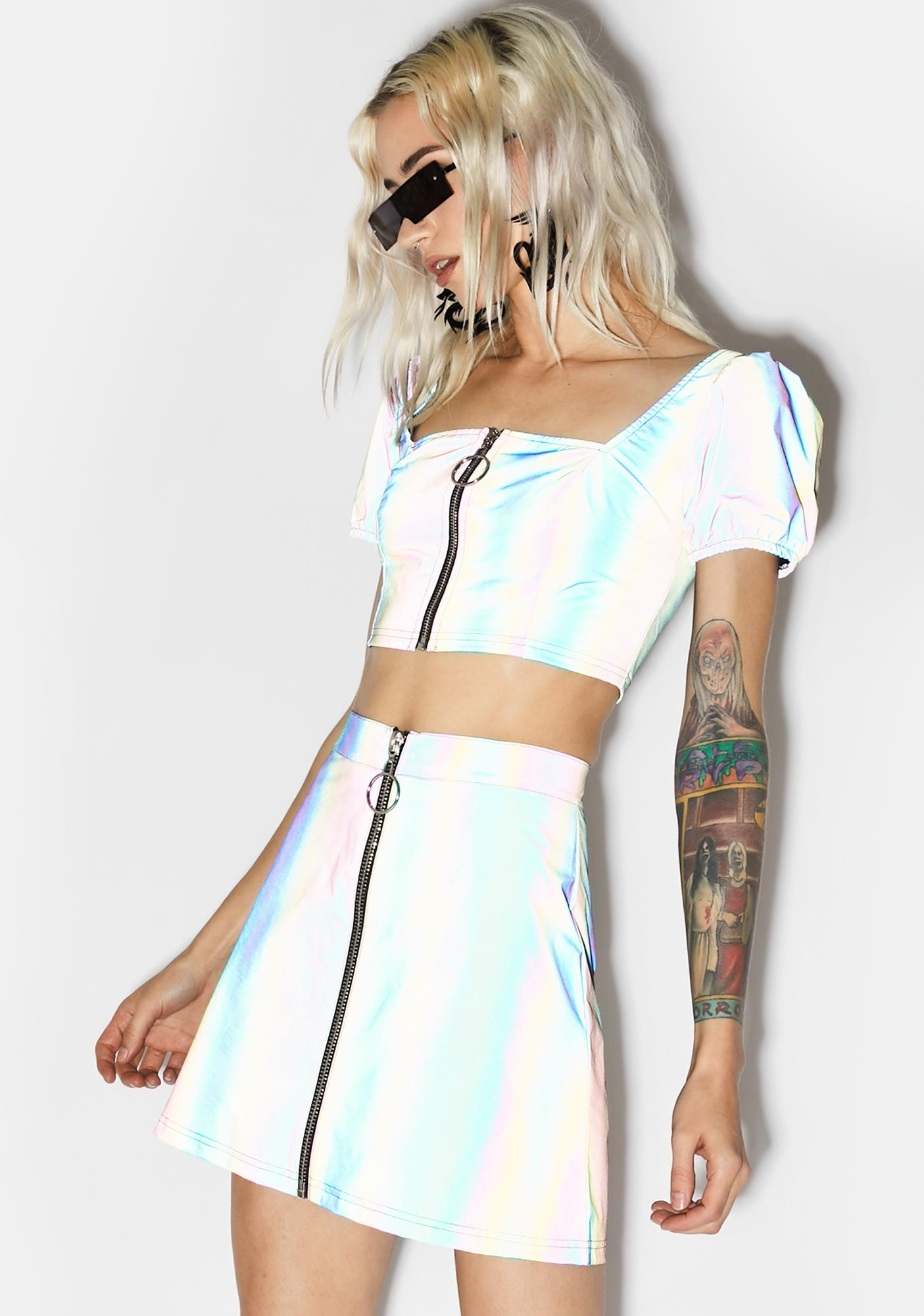 Current Mood Night Savage Signalz Reflective Skirt