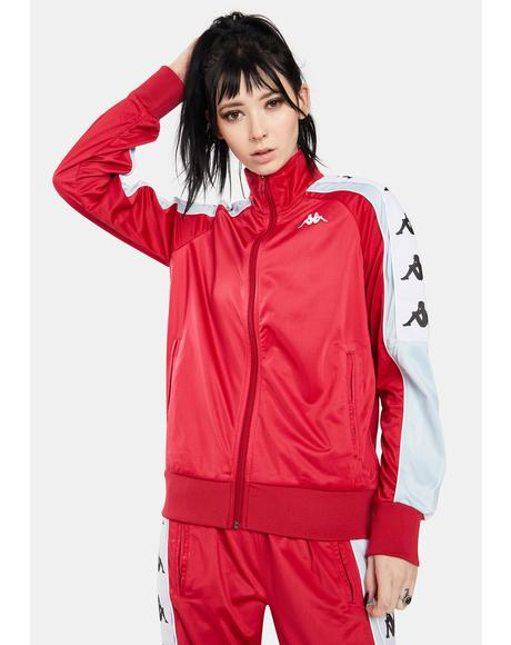 Red Cyclamen 222 Banda 10 Anay Track Jacket