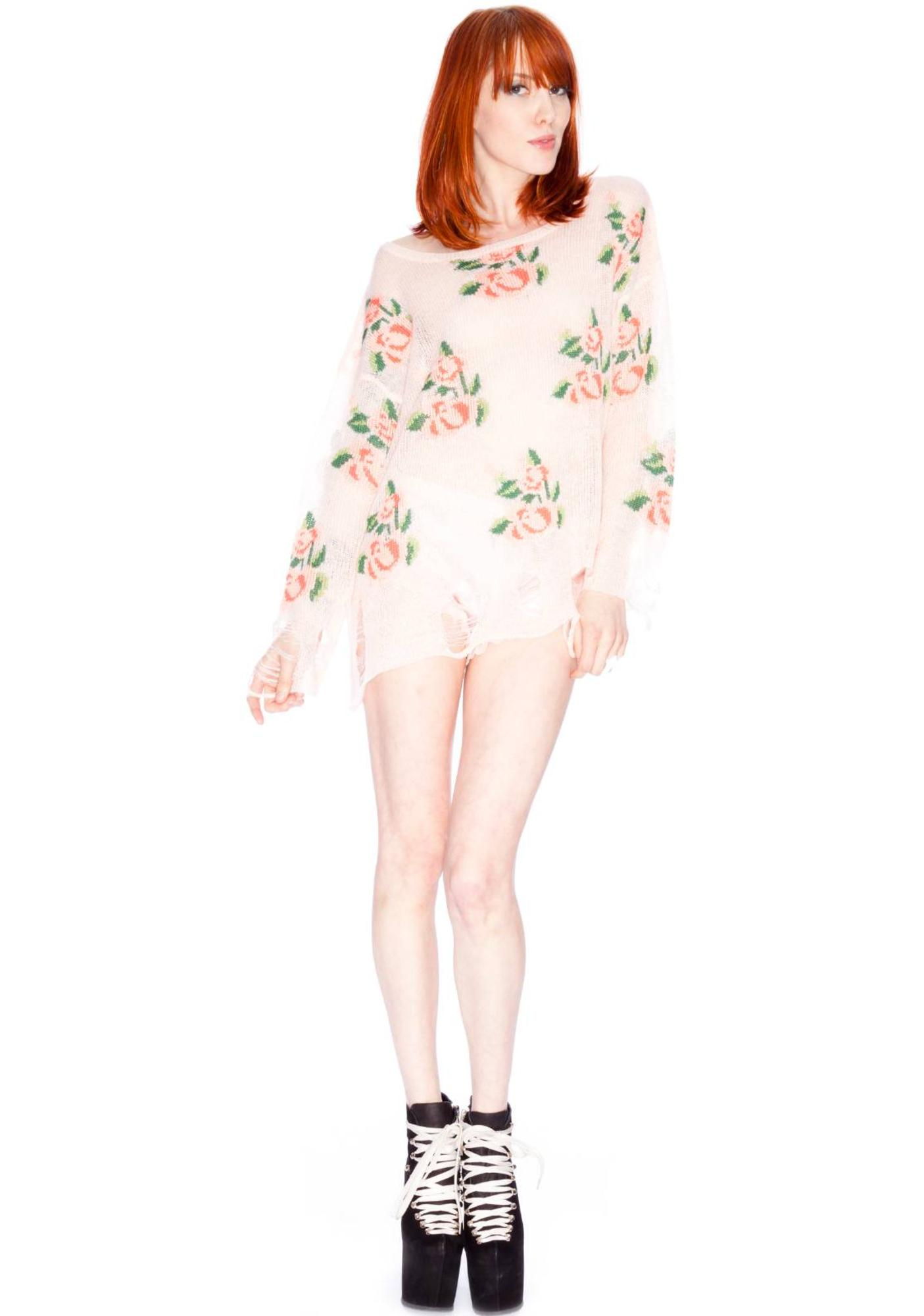 Wildfox Couture Prairie Rose Lennon Sweater