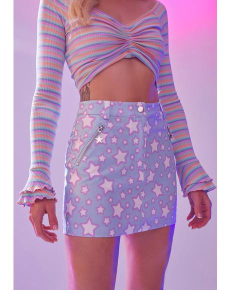 Dancing In Starlight Mini Skirt
