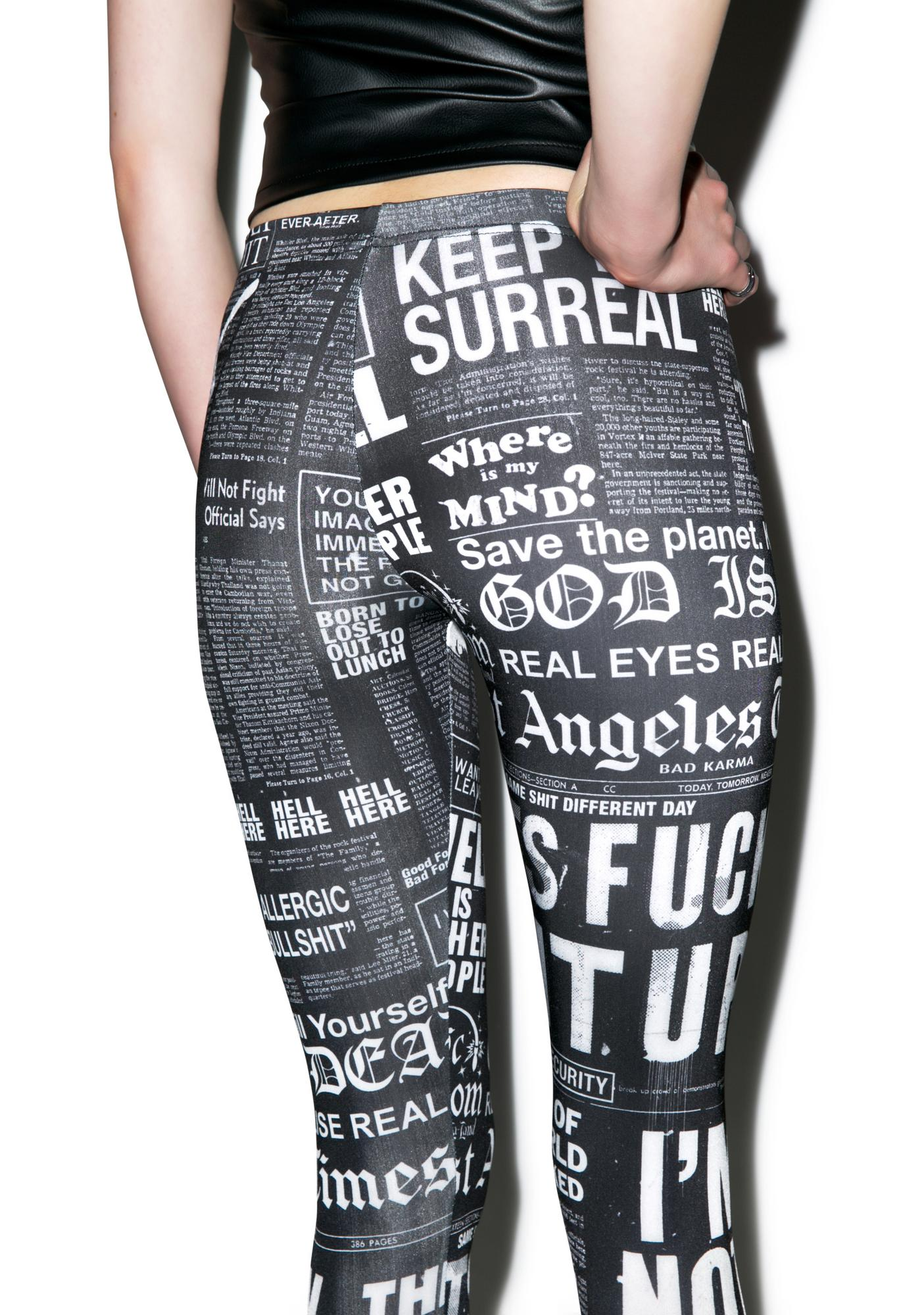 Disturbia Bad News Leggings