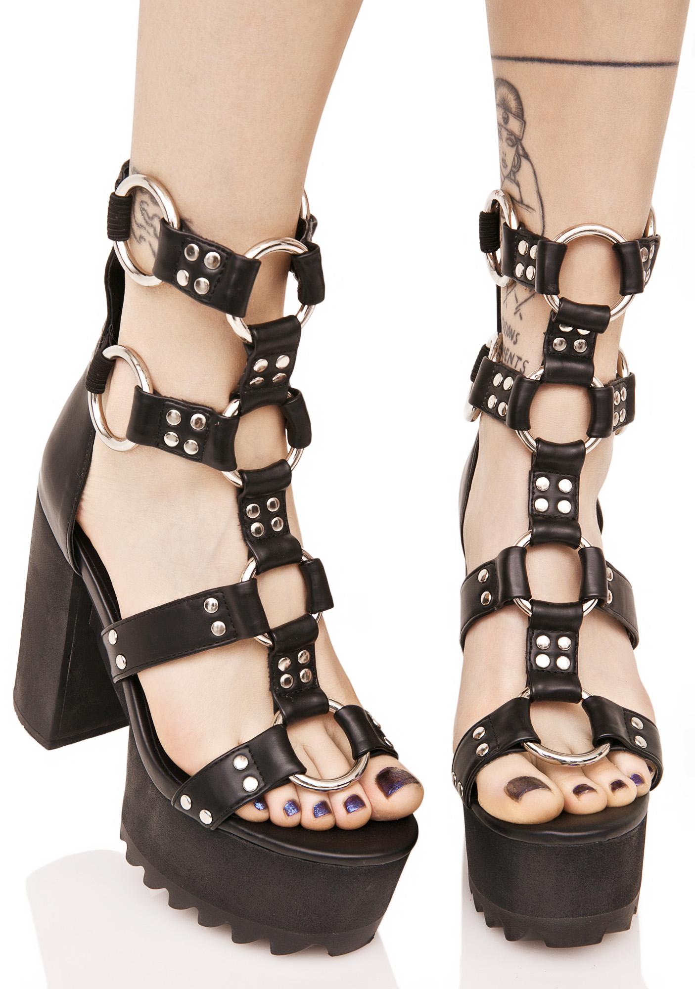 Current Mood Bondage Platform Sandals