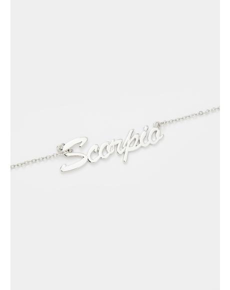 Signed Sealed Scorpio Necklace
