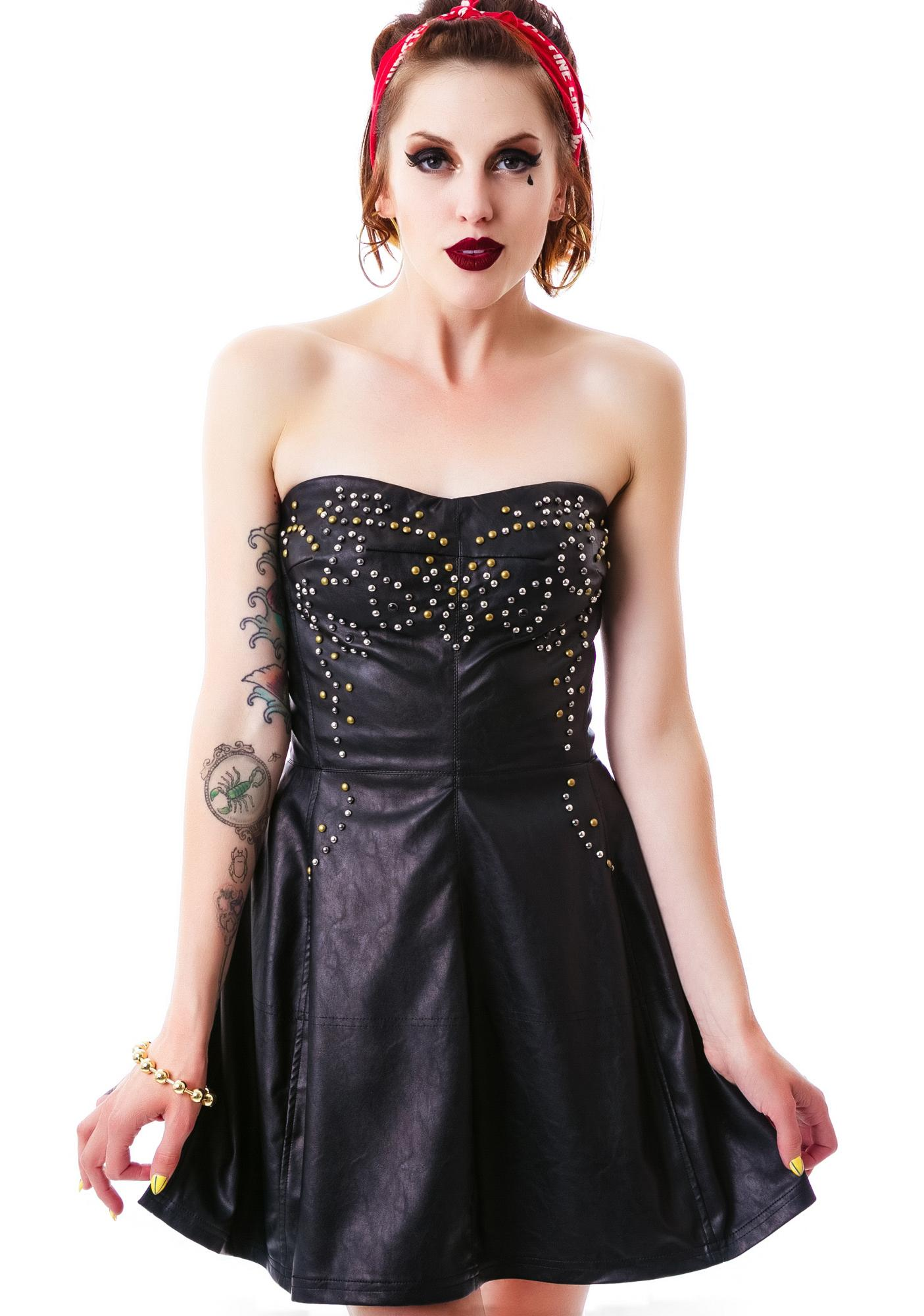 Hellion Studded Tube Dress