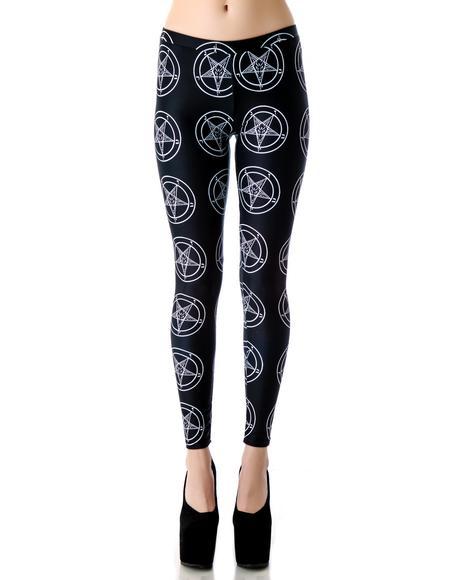 Baphomet Pentagram Leggings