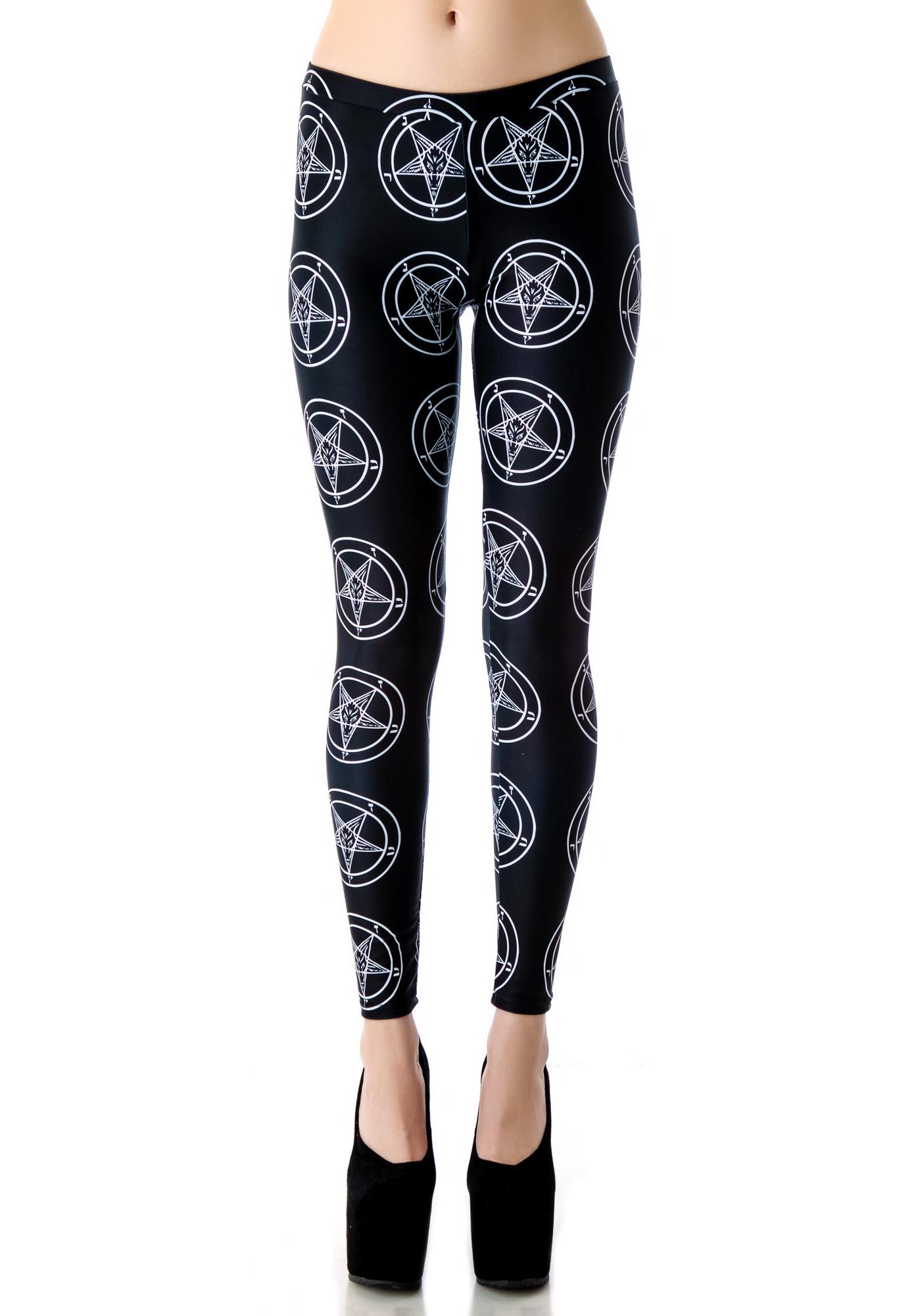 Tentacle Threads Baphomet Pentagram Leggings