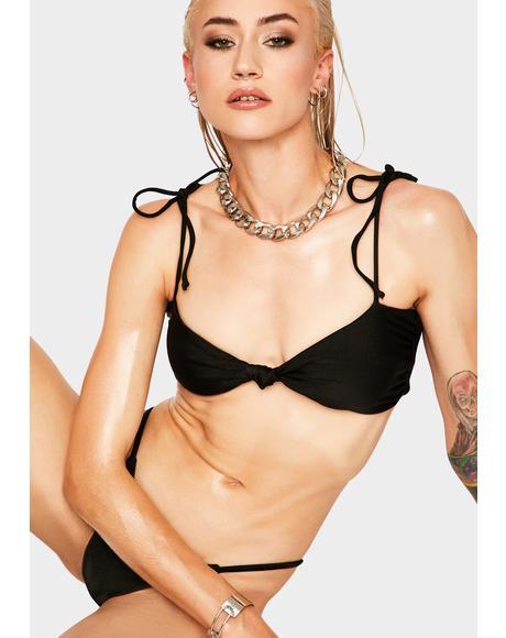 Black Hiatus Bikini Top