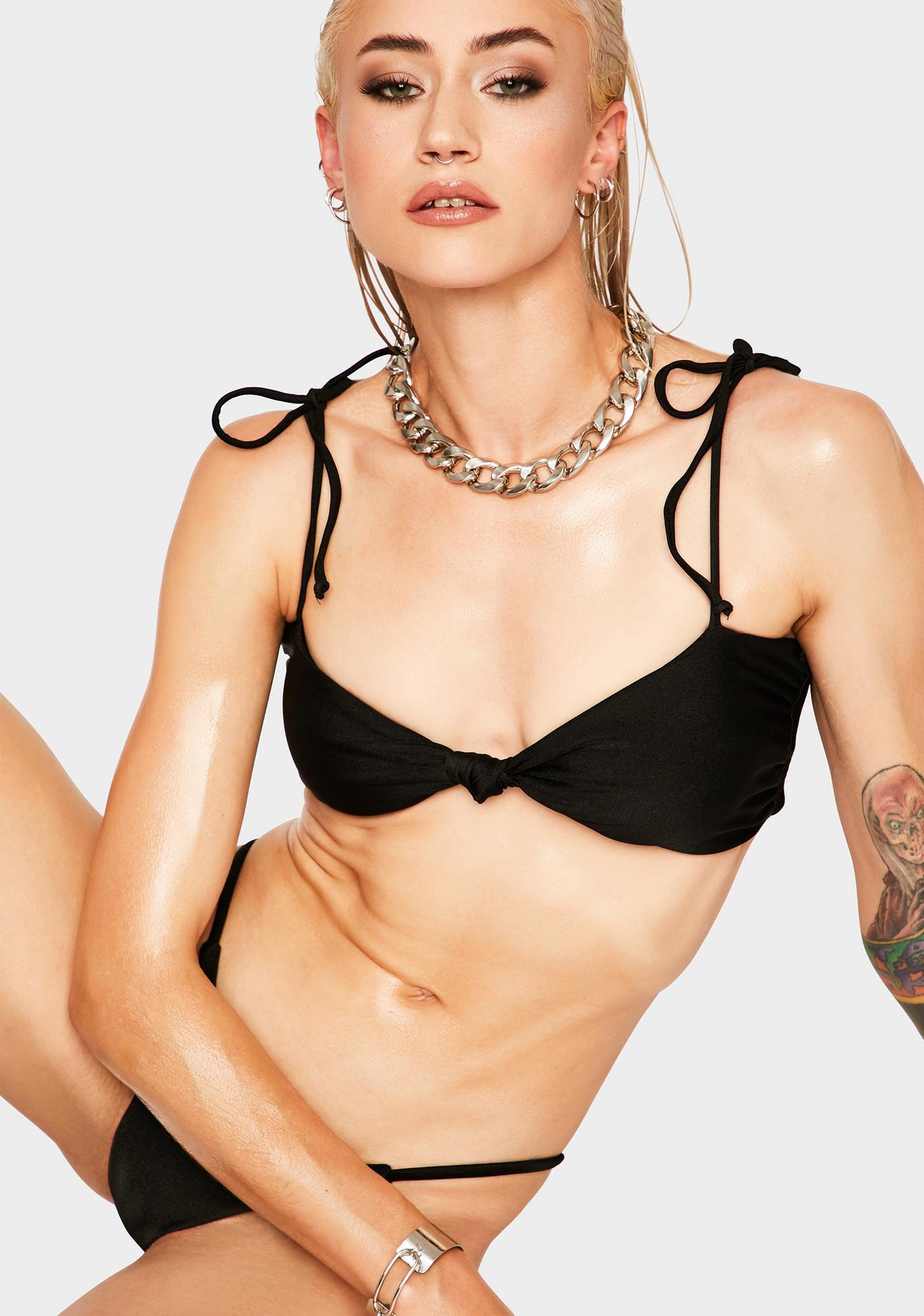 RIS-K Black Hiatus Bikini Top